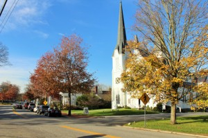 View Bedford Presbyterian Church on Village Green, Bedford