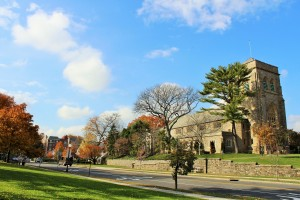 View of Midland Ave and The Reformed Church of Bronxville